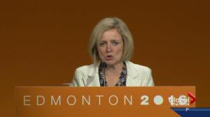 Alberta Premier Rachel Notley takes aim at 'Leap Manifesto' at NDP convention